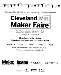 Cleveland Mini-Maker Faire 2013 Schedule Page One