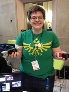 Xander from SYN/HAK shows Cubelets at Cleveland Mini-Maker Faire 2013